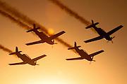 Israeli Air force Flight Academy Beechcraft T-6A Texan II aerobatics team