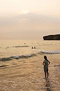 Watch the sunset on Cijin Island's beautiful Beach.