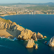 Aerial view of the bay of Cabo San Lucas. Baja California Sur, Mexico.