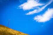 utility pole and sky on the way to jalama