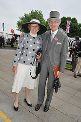 DAVID & the HON.MRS SIEFF at the 2012 Investec sponsored Derby at Epsom Racecourse, Epsom, Surrey on 2nd June 2012.