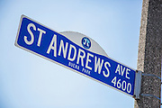 St Andrews Ave Street Sign in Buena Park