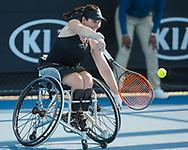 KATHARINA KRUEGER (GER), Wheelchair, Rollstuhl<br /> <br /> Tennis - Australian Open 2018 - Grand Slam / ATP / WTA -  Melbourne  Park - Melbourne - Victoria - Australia  - 24 January 2018.