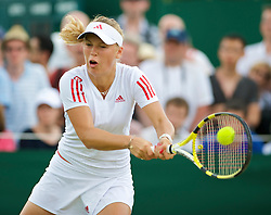 LONDON, ENGLAND - Monday, June 29, 2009: Caroline Wozniacki (DEN) during her Ladies' Singles 4th Round match on day seven of the Wimbledon Lawn Tennis Championships at the All England Lawn Tennis and Croquet Club. (Pic by David Rawcliffe/Propaganda)