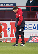 Rangers' caretaker manager Graeme Murty dejection - Dundee v Rangers in the Ladbrokes Scottish Premiership at Dens Park, Dundee.Photo: David Young<br /> <br />  - © David Young - www.davidyoungphoto.co.uk - email: davidyoungphoto@gmail.com