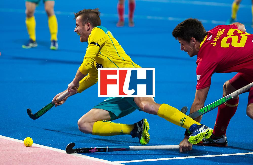 BHUBANESWAR - Jake Whetton (Aus) .   Hockey World League finals , Quarter Finals . Spanje-Australie (1-4)  COPYRIGHT KOEN SUYK