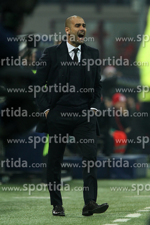 23.11.2011, Giuseppe Meazza Stadion, Mailand, ITA, UEFA CL, Gruppe H, AC Mailand (ITA) vs FC Barcelona (ESP), im Bild Pep Guardiola Barcellona // during the football match of UEFA Champions league, group H, between Gruppe H, AC Mailand (ITA) and FC Barcelona (ESP) at Giuseppe Meazza Stadium, Milan, Italy on 2011/11/23. EXPA Pictures © 2011, PhotoCredit: EXPA/ Insidefoto/ Paolo Nucci..***** ATTENTION - for AUT, SLO, CRO, SRB, SUI and SWE only *****