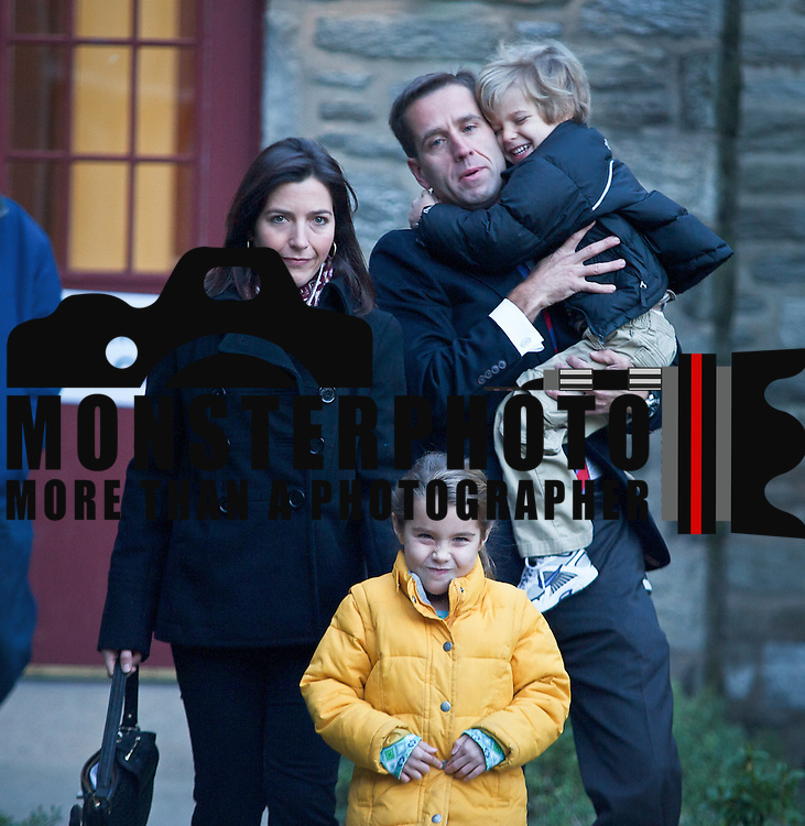 11/02/10 Wilmington DE: Delaware's Attorney General Beau Biden and his family Wife Hallie Biden (Left) Daughter Natalie (Middle)  and Son Hunter (Right) cast there votes Early This morning at Emmanuel Church Highlands in North Wilmington. ..Special to The News Journal/SAQUAN STIMPSON