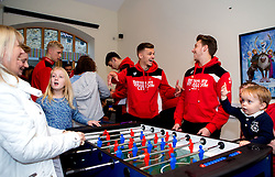 Luke Freeman and Jamie Paterson of Bristol City play table football during Bristol City's visit to the Children's Hospice South West at Charlton Farm - Mandatory by-line: Robbie Stephenson/JMP - 21/12/2016 - FOOTBALL - Children's Hospice South West - Bristol , England - Bristol City Children's Hospice Visit