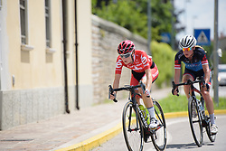 Nicole Hanselmann & Claudia Koster in the break on Stage 2 of the Giro Rosa - a 122.2 km road race, between Zoppola and Montereale Valcellina on July 1, 2017, in Pordenone, Italy. (Photo by Sean Robinson/Velofocus.com)