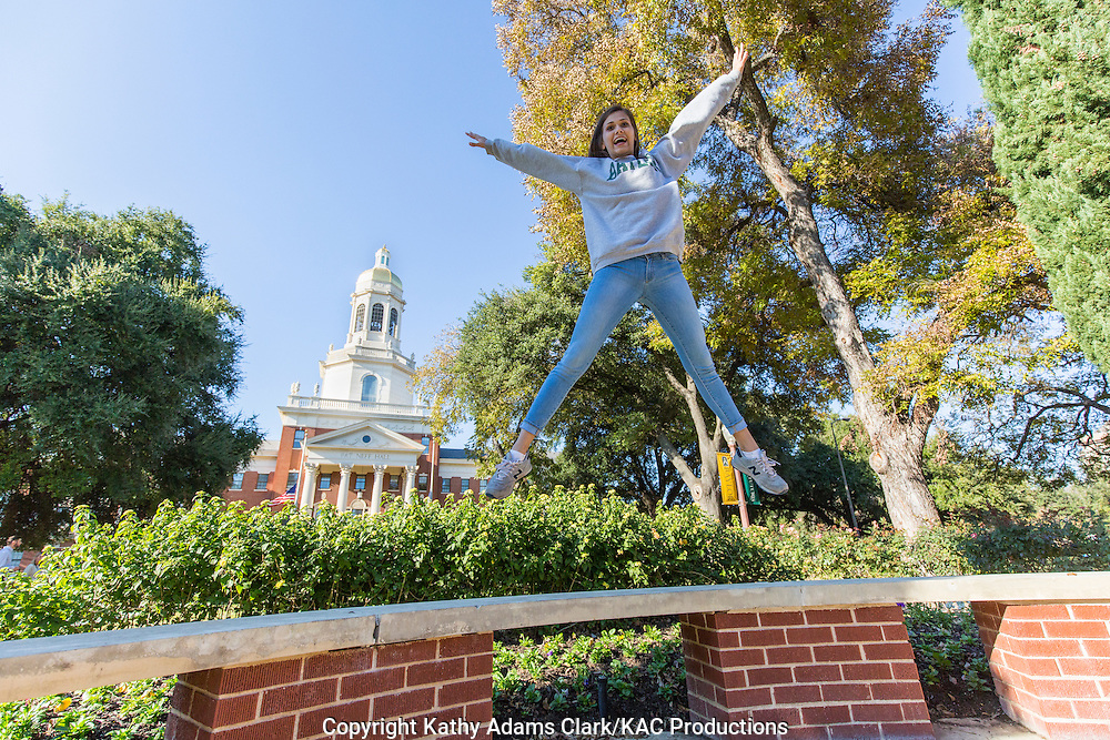 Baylor University student  Melissa Helm loves her college and its lovely campus.