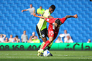 Vitolo of Sevilla on the ball during the Pre-Season Friendly match between Brighton and Hove Albion and Sevilla at the American Express Community Stadium, Brighton and Hove, England on 2 August 2015. Photo by Phil Duncan.