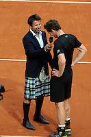 Fabrice SANTORO / Andy MURRAY  - 28.05.2015 - Jour 5 - Roland Garros 2015<br />Photo : Nolwenn Le Gouic / Icon Sport