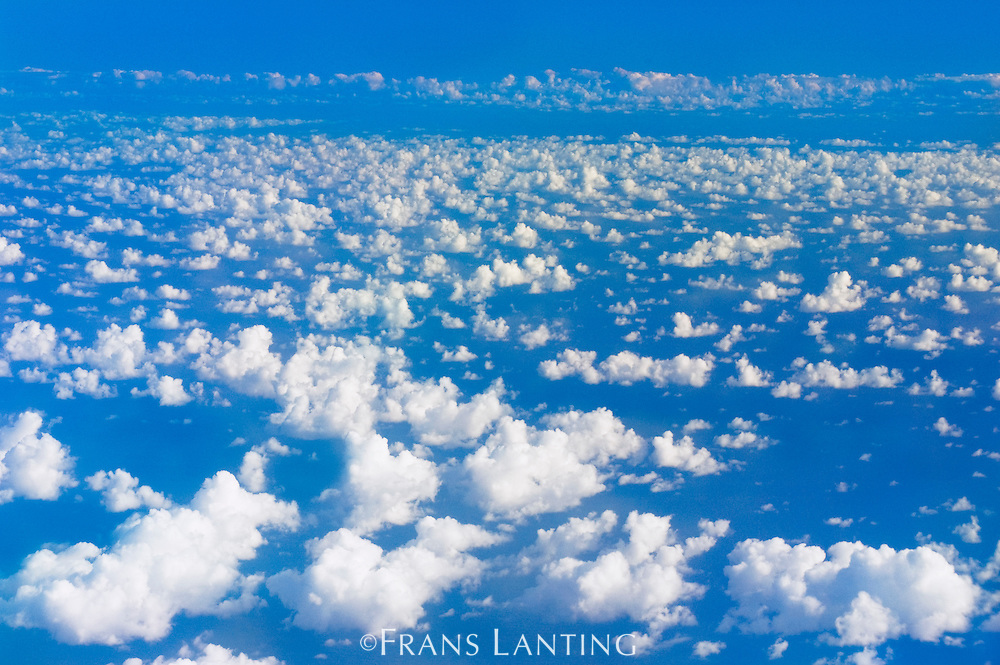 Clouds over ocean, South Pacific Ocean