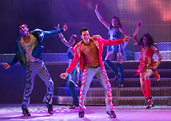 """© Licensed to London News Pictures. 29/01/2014. London, England. The show """"The Merchants of Bollywood"""" returns to the Peacock Theatre/Sadler's Wells from 28 January to 15 February 2014. Photo credit: Bettina Strenske/LNP"""