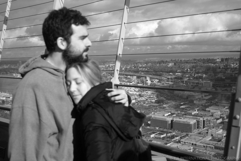 Couple, Space Needle, Seattle