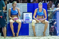Inna and Iryna Makhno of Ukraine at Beach Volleyball Challenge Ljubljana 2019, on August 4, 2019 in Kongresni trg, Ljubljana, Slovenia. Photo by Grega Valancic / Sportida