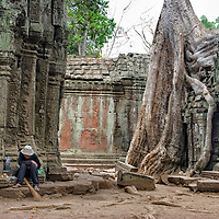 "We found one famous man in Ta Prohm, the man who once was on the cover of the ""Lonely Planet"" guidebook. Unfortunatelly he was very tired."