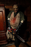 Actors from 'The Killers'  nightmare haunted house in LES on October 17, 2012.