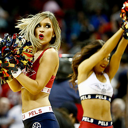 Dec 15, 2016; New Orleans, LA, USA; The New Orleans Pelicans dance team performs following a game against the Indiana Pacers at the Smoothie King Center. The Pelicans defeated the Pacers 102-95. Mandatory Credit: Derick E. Hingle-USA TODAY Sports