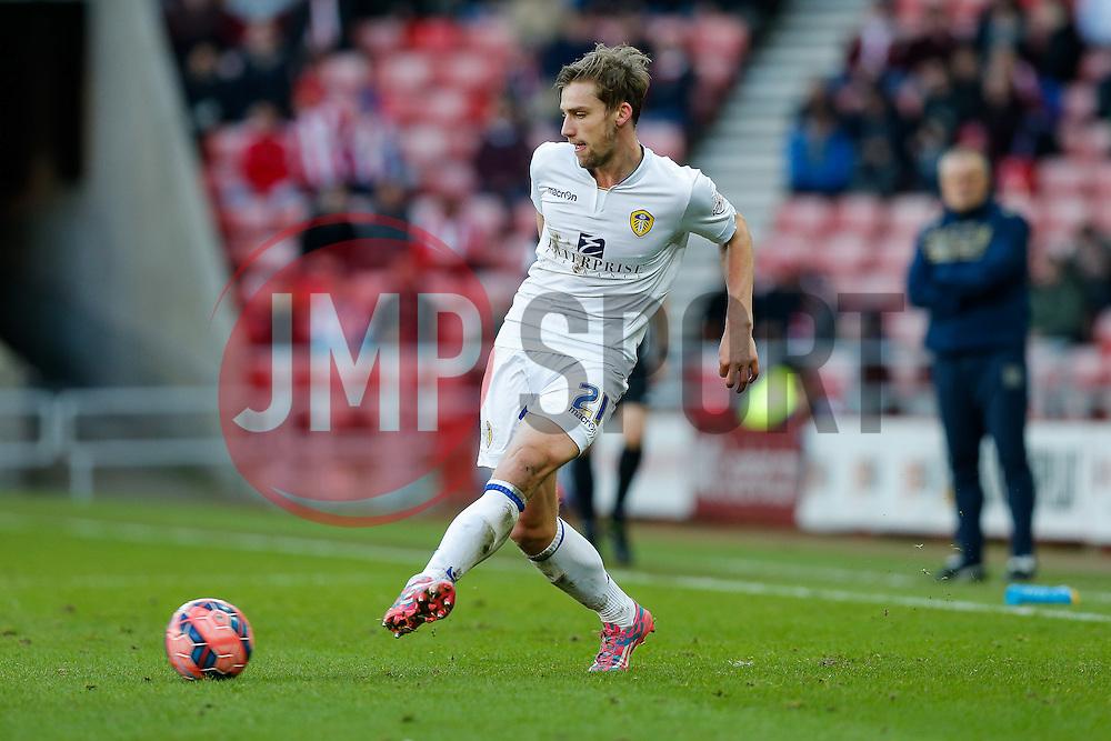 Charlie Taylor of Leeds United in action - Photo mandatory by-line: Rogan Thomson/JMP - 07966 386802 - 04/01/2015 - SPORT - FOOTBALL - Sunderland, England - Stadium of Light - Sunderland v Leeds United - FA Cup Third Round Proper.