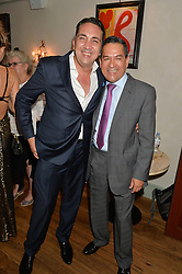 Left to right, GABRIELE ESPOSITO General Manager of Daphne's and JESUS ADORNO at the 50th anniversary party for Daphne's restaurant, 112 Draycott Avenue, London held on 24th June 2014.