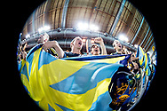 Canottieri Aniene <br /> festeggia la vittoria nella serie A1 del Campionato italiano a squadre<br /> Riccione 15-04-2018 Stadio del Nuoto <br /> Nuoto campionato italiano a squadre 2018 Coppa Brema<br /> Photo © Giorgio Scala/Deepbluemedia/Insidefoto