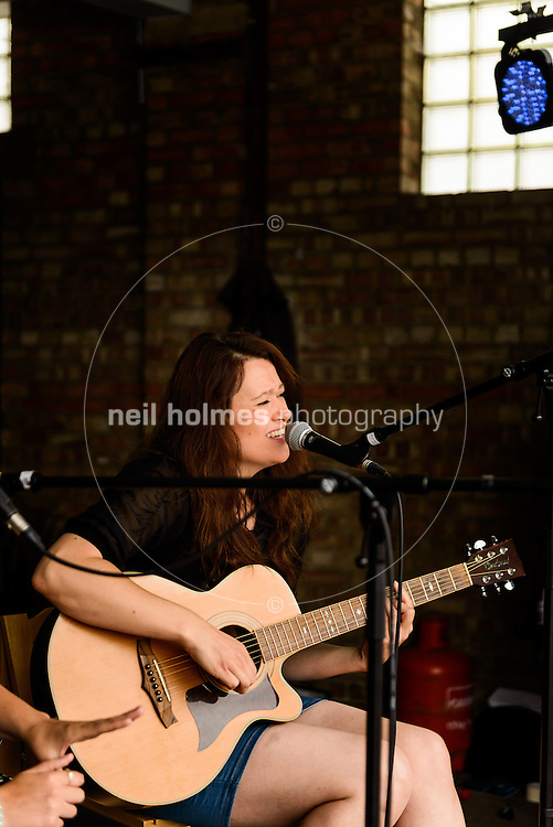 Humber Street SESH, Hull, East Yorkshire. August 3, 2013. Pictured: Sophie Dearing, Thieving Henry's Buskers Stage