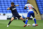 Mason Mount (8) of Derby County tackles Sone Aluko (14) of Reading during the EFL Sky Bet Championship match between Reading and Derby County at the Madejski Stadium, Reading, England on 3 August 2018. Picture by Graham Hunt.