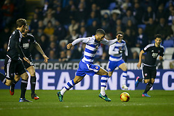 Lewis Grabban of Reading on the attack is caught offside - Mandatory by-line: Jason Brown/JMP - 14/02/2017 - FOOTBALL - Madejski Stadium - Reading, England - Reading v Brentford - Sky Bet Championship