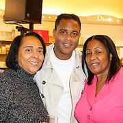 NLD/Amsterdam/20120424 - Lancering juwelenlijn Wishes by Rossana Kluivert-Lima, Patrick Kluivert met zijn tante