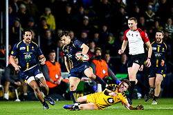 Jono Kitto of Worcester Cavaliers goes past Billy Searle of Wasps A - Mandatory by-line: Robbie Stephenson/JMP - 16/12/2019 - RUGBY - Sixways Stadium - Worcester, England - Worcester Cavaliers v Wasps A - Premiership Rugby Shield