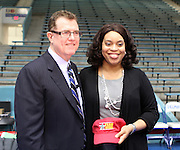 Sonja Williams of Madison High School, pictured with Houston ISD superintendent Terry Grier, is one of the district's Principals of the Year.
