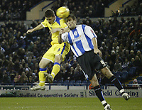 Photo: Aidan Ellis.<br /> Sheffield Wednesday v Cardiff City. Coca Cola Championship. 09/11/2005.<br /> Cardiff's Jason Koumas scores the first goal with his head