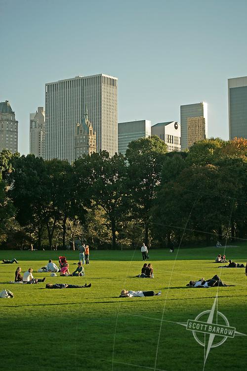 Sheep's Meadow in Central Park, NY, NY.