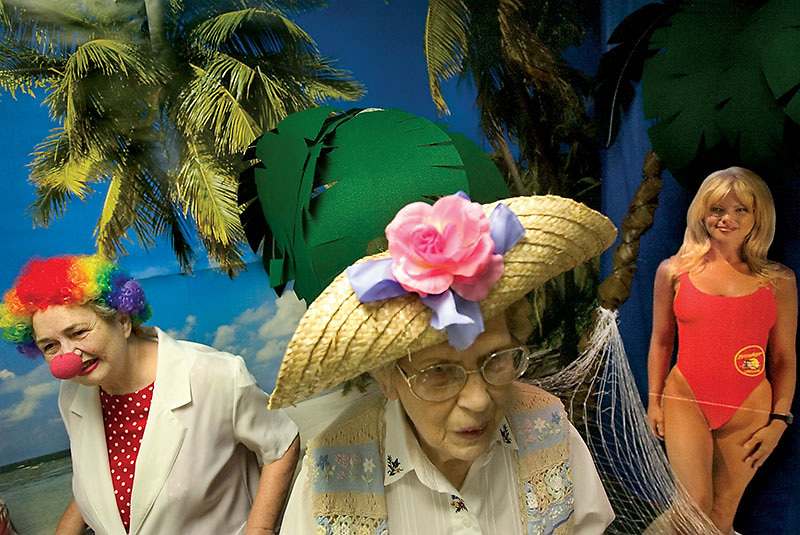 hat contest and talent show at retierment center to celebrate National Senior Health & Fitness Day