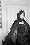 12/09/1962<br /> 09/12/1962<br /> 12 September 1962<br /> Fashion: Veronica Jaye Autumn/Winter collection 1962 fashion show at the Northbrook Hotel, Dublin. Burgundy satin evening coat and matching beaded ball-gown worn by Helen.