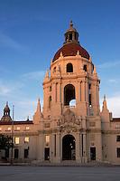 Pasadena City Hall at Sunset, Pasadena, California