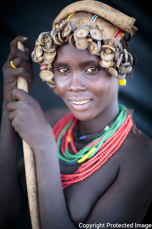 Ethiopia, Omo Valley, Omorate, Dassanech Tribe