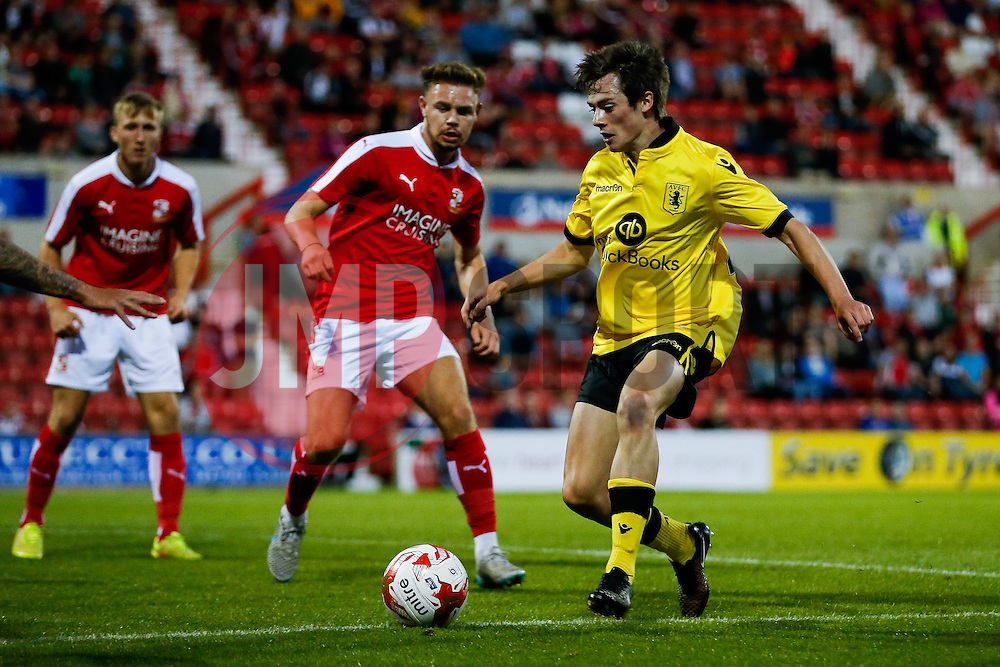 Harry McKirdy of Aston Villa in action - Mandatory byline: Rogan Thomson/JMP - 07966 386802 - 21/07/2015 - SPORT - Football - Swindon, England - The County Ground - Swindon Town v Aston Villa - 2015/16 Pre Season Friendly.