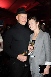 CAMILLA RUTHERFORD and DOMINIC BURNS at the MontBlanc John Lennon Launch, The Serpentine Gallery, Kensington Gardens, London on 14th September 2010.