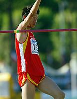 Friidrett - Athletics<br /> Junior-VM 2004 - World Junior Championships 2004<br /> Grosseto - Italia - Italy<br /> 15.07.2004<br /> Foto: Morten Olsen, Digitalsport<br /> <br /> Tong Hu - Kina<br /> Høyde