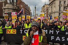 9 Dec 2018 - Thousands march against the far right in London counter demonstration.