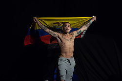 October 27, 2017 - Sao Paulo, Sao Paulo, Brazil - UFC fighter MARLON VERA of Ecuador during the weigh-in event prior to the UFC Fight Night Sao Paulo, at the Ibirapuera Gymnasium in Sao Paulo Brazil. (Credit Image: © Paulo Lopes via ZUMA Wire)