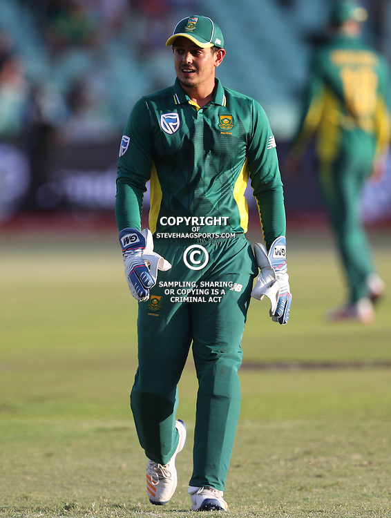 Quinton de Kock of the (South African Proteas) during the 2nd ODI Momentum One-Day International (ODI) series South African and Sri Lanka at Kingsmead, Durban, South Africa.1st February 2017 - (Photo by Steve Haag)