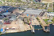 Nederland, Noord-Holland, Amsterdam, 09-04-2014; Amsterdam-Noord, voormalige NDSM werf, 'creatieve hotspot'<br /> Former shipyard, now so-called creative hotspot.<br /> luchtfoto (toeslag op standard tarieven);<br /> aerial photo (additional fee required);<br /> copyright foto/photo Siebe Swart
