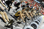 Birmingham, Great Britain,    Juniors racing the ergos, at the British Indoor Rowing Championships, National Indoor Arena, NIA,  Sun, 22.11.2009  [Mandatory Credit. Peter Spurrier/Intersport Images]