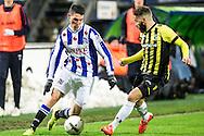 Voetbal Heerenveen Eredivisie 2014-2015 SC Heerenveen - Vitesse: (L-R) Stefano Marzo (SC Heerenveen), Rochdi Achenteh (Vitesse)