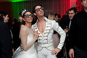 BEGONA CAO; ESTEBAN BERLANGA WATCHING BALLET ON SKY TELEVISION WEARING 3D GLASSES, , English National Ballet launches its Christmas season with a partyu before s performance of The Nutcracker at the Coliseum.  St. Martin's Lane Hotel.  London. 16 December 2009 *** Local Caption *** -DO NOT ARCHIVE-© Copyright Photograph by Dafydd Jones. 248 Clapham Rd. London SW9 0PZ. Tel 0207 820 0771. www.dafjones.com.<br /> BEGONA CAO; ESTEBAN BERLANGA WATCHING BALLET ON SKY TELEVISION WEARING 3D GLASSES, , English National Ballet launches its Christmas season with a partyu before s performance of The Nutcracker at the Coliseum.  St. Martin's Lane Hotel.  London. 16 December 2009