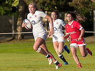 Zoe Aldcroft in action, U20 England Women v U20 Canada Women at Trent College, Derby Road, Long Eaton, England, on 26th August 2016
